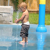 Logan Ingrassi, 2, of Fitchburg plays in the water at Carter Park in Fitchburg on Friday morning. The city put in the water park last fall and this is the first summer that kids could use it to cool off on Westminster Street. Carter park has a summer camp for kids that you can sign up for all summer. It runs from 9:30 in the morning till 2:30 in the afternoon five days a week. SENTINEL & ENTERPRISE/JOHN LOVE