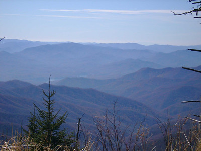 View from path to the top of Clingmans Dome