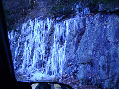 Icicles on road to Clingmans Dome