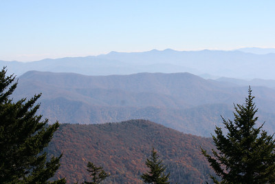 At 6,643 feet Clingmans Dome is the highest point in the Great Smoky Mountains National Park.