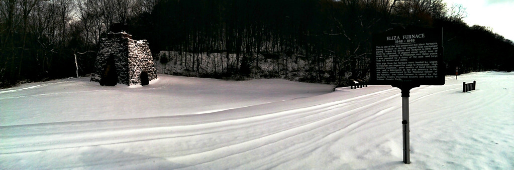 Snowy Panorama at Eliza Furnace