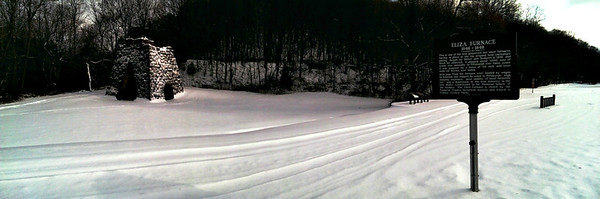 Snowy Panorama at Eliza Furnace