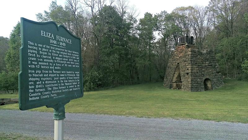 Historical Marker at the Eliza Furnace