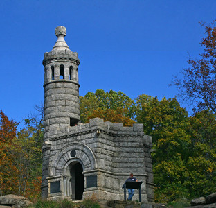 Tower on a hill overlooking he battlefield..  by P. Saavedra