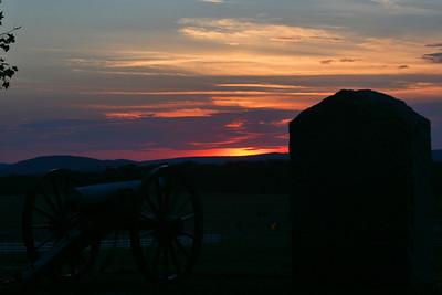 Sunset at Gettysburg, taken by P. Saavedra