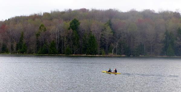 Double Kayak at Hemlock Lake