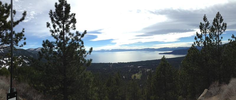 Last lookout point leaving Lake Tahoe.