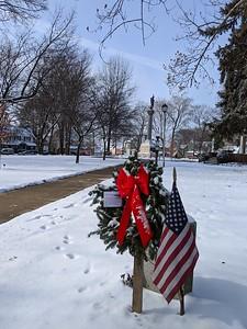 Memorial Wreaths at Memorial Park