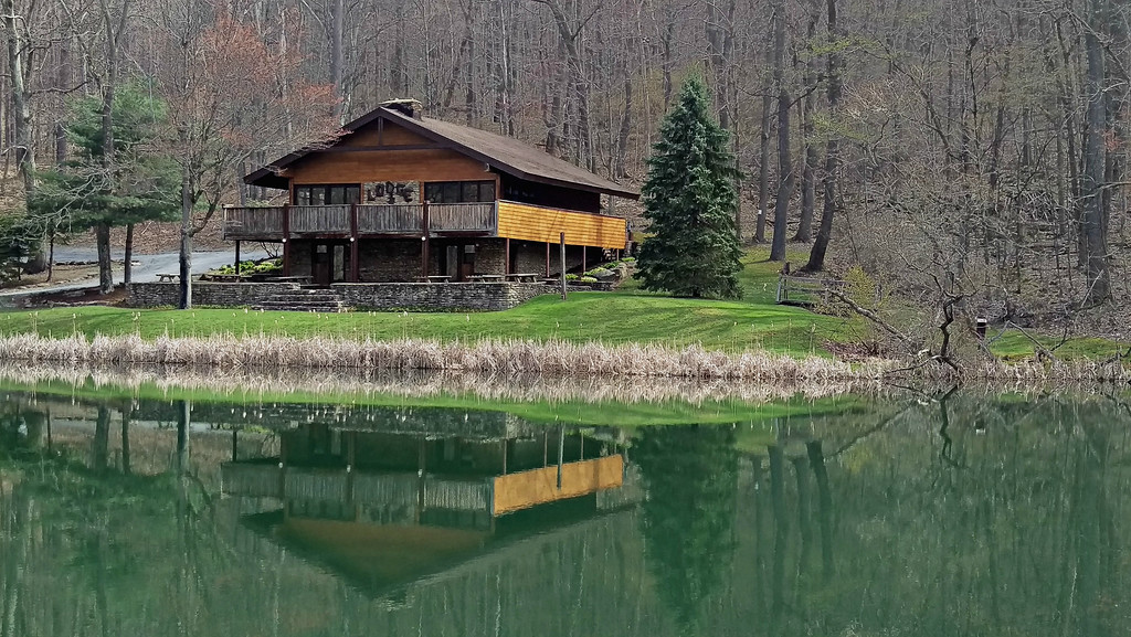 Pine Lodge had a two-acre pond that adds to the peaceful setting of the park.