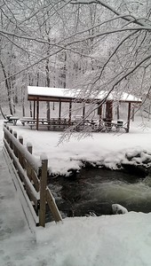 Pine Ridge Pavilion #1 Winter Scene