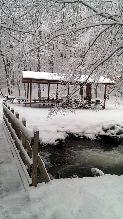 Pine Ridge Pavilion #1 Winter Scene