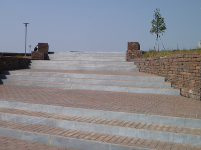 Steps at main entrance.