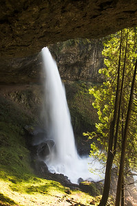 North Falls from under the overhang. This is another one where the path goes behind the waterfall.
