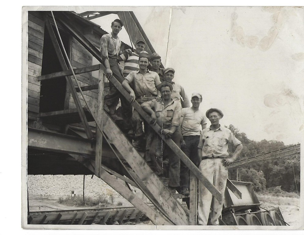 Workers at the Conemaugh Dam, c. 1949