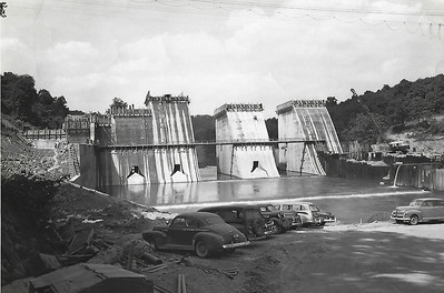 Conemaugh Dam Construction - August 14, 1950