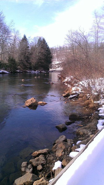 A Touch of Snow at Two Lick Creek