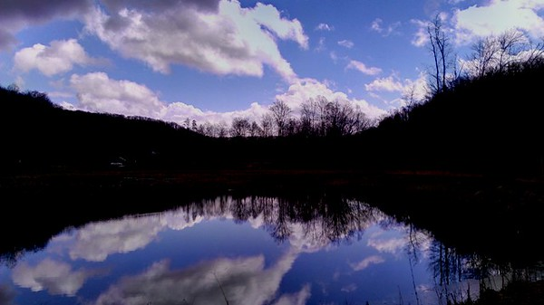 Blue Sky Reflectiions at Waterworks