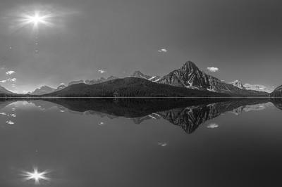 Bow Lake Mirror B+W