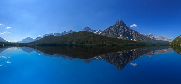 Bow Lake Panoramic Mirror