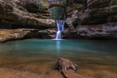 Upper Falls at Old Man's Cave in the Spring