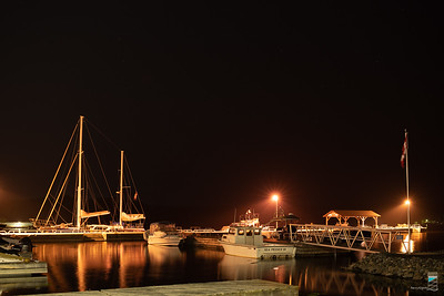 Parry Sound Town Dock at Night 2021-07-25