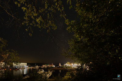 A view of the Parry Sound Harbour with the Milky Way