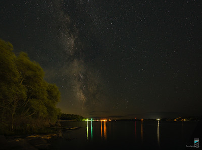 Milky Way looking south from Champaigne Launch in Parry Sound