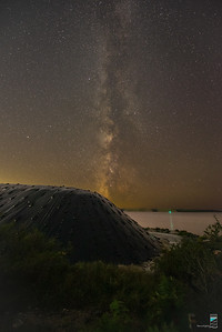 Milky Way Over the Great Pyramid of Parry Sound (Smelter Wharf Salt Pile)