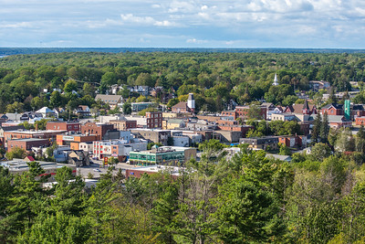 Downtown Parry Sound from Tower Hill