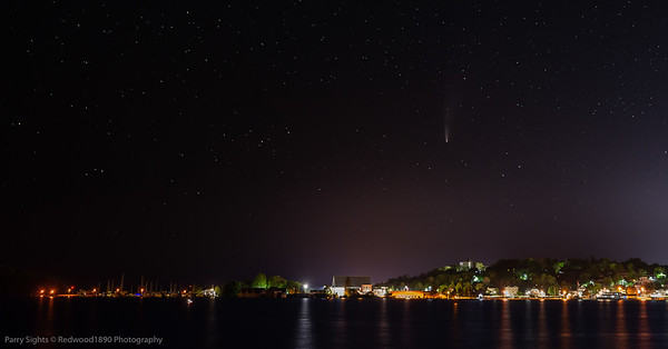 Comet Neowise Over Parry Sound Harbour