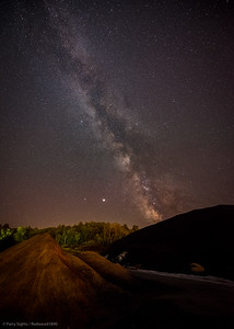 The Milky Way Over Parry Sound Salt Piles (2020-07)