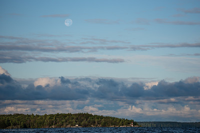 Full Moon Setting Over 3-Mile Point