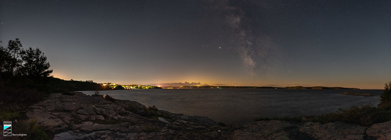 Panorama of the Big Sound from the Town of Parry Sound to 3-Mile Point on Parry Island