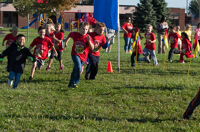 This is the Parson's Fun run for the Kindergarten and 1st graders.