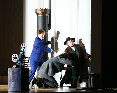 ENO Partenope Rupert Charlesworth Patricia Bardon and Stephanie Windsor-Lewis (c) Donald Cooper