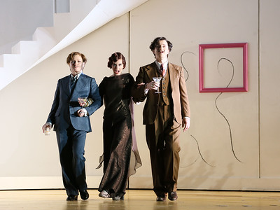 ENO Partenope Sarah Tynan, James Laing and Patricia Bardon (c) Donald Cooper