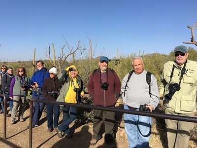 The group awaiting Raptor Free Flight