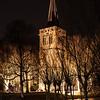 Verlichte kerk ivm de Kerstnachtdienst