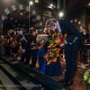 Uitvoering; applaus en bloemen