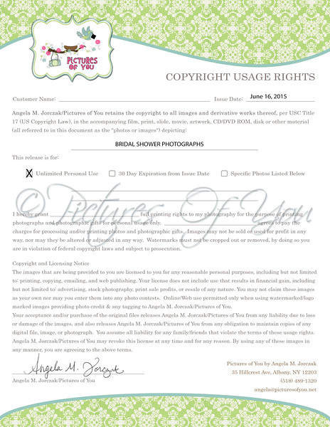Copyright Usage Rights