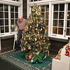 AL P. EXAMINING THE 153 ORNAMENTS ON THE TREE