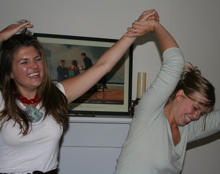 The dance-party hostesses getting their groove on