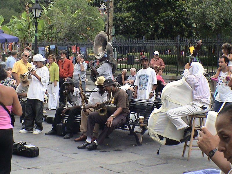 Live music in the streets.