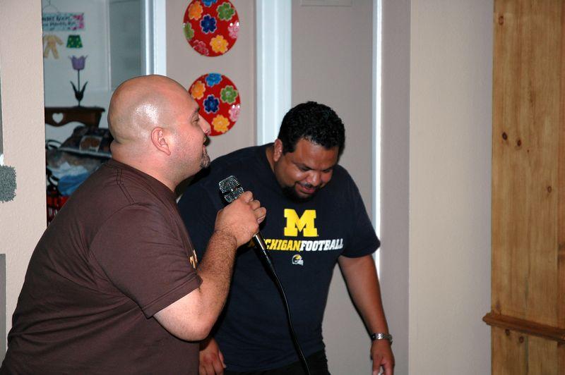 Manny sang Kryptonite (I think).
