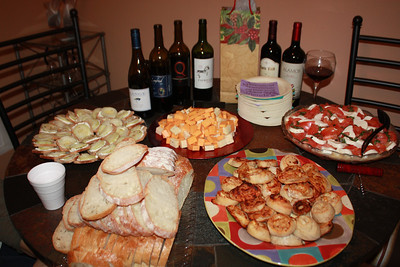 20130112 Michael And Annette Cake and Champagne toast