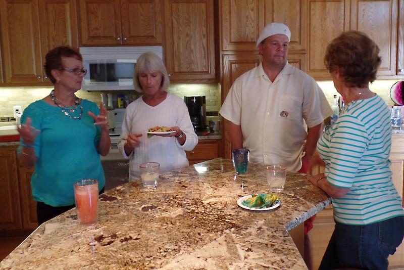 Vadis, Milly, Doug & Rose in kitchen