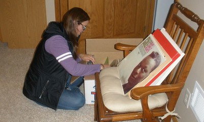 Katie - checking through Grandpa's old LP's