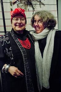 2018.01.27_Larissa Archer birthday party - Masha Archer, left; Eva Strauaa Rosen, right