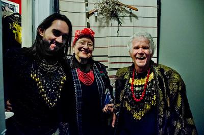 2018.01.27_Larissa Archer birthday party - ? on left; Masha Archer , cneter, and Scott Nichols; right
