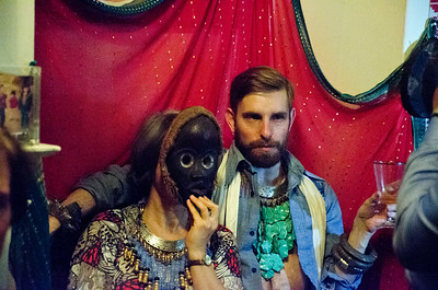 2018.01.27_Larissa Archer birthday party. Masked lady and friend